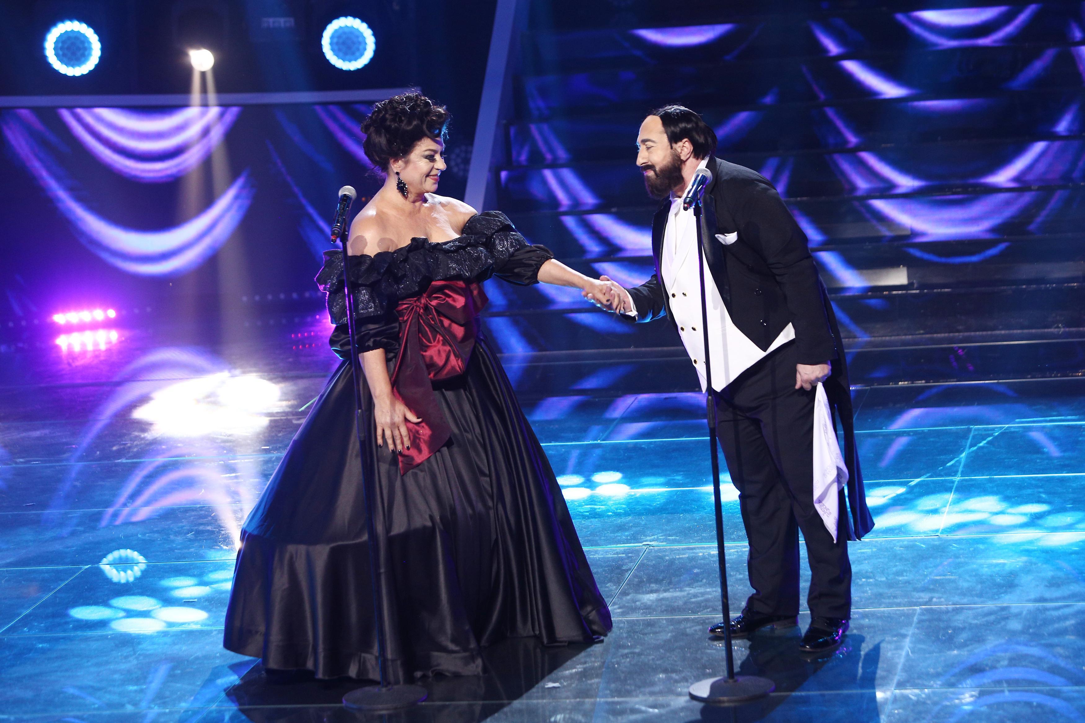 Te cunosc de undeva, 1 mai 2021. Adriana Trandafir și Romică Țociu, fantastici ca Luciano Pavarotti și Leontina Văduva