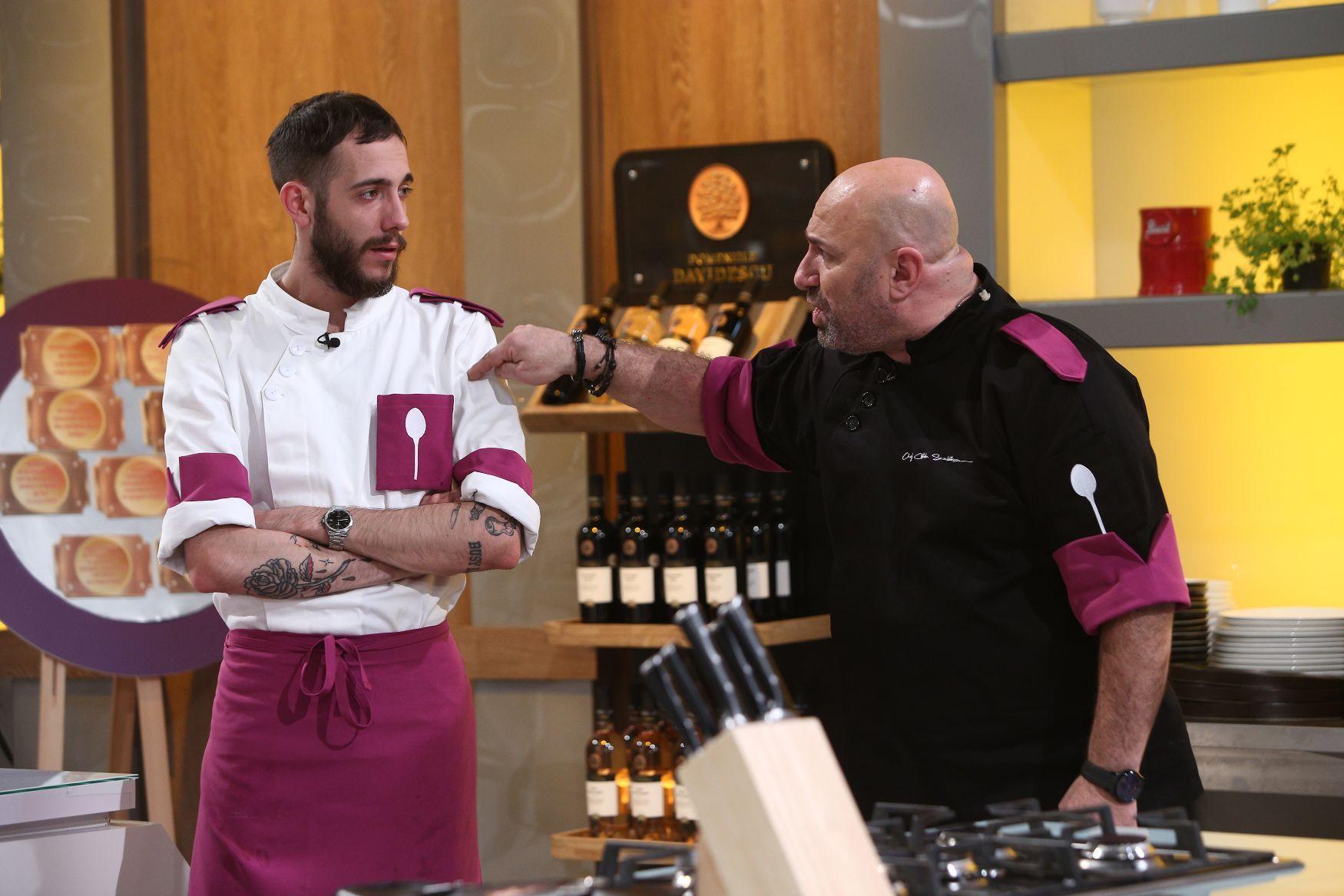 Chefi la cuțite 2021. Mesajul lui Chef Scărlătescu pentru Luca Pintea, primul lui concurent eliminat. Ce spune concurentul