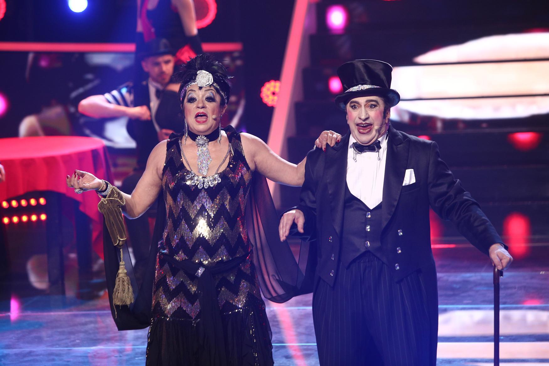 Te cunosc de undeva, 15 mai 2021. Adriana Trandafir și Romică Țociu, cabaret sublim, transformați în Liza Minnelli și Joel Grey