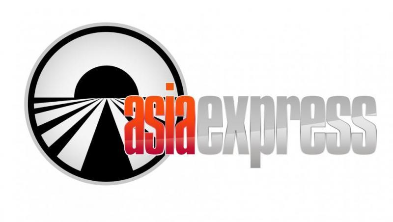 sigla asia express sezon 4 cu alb, negru si portocaliu