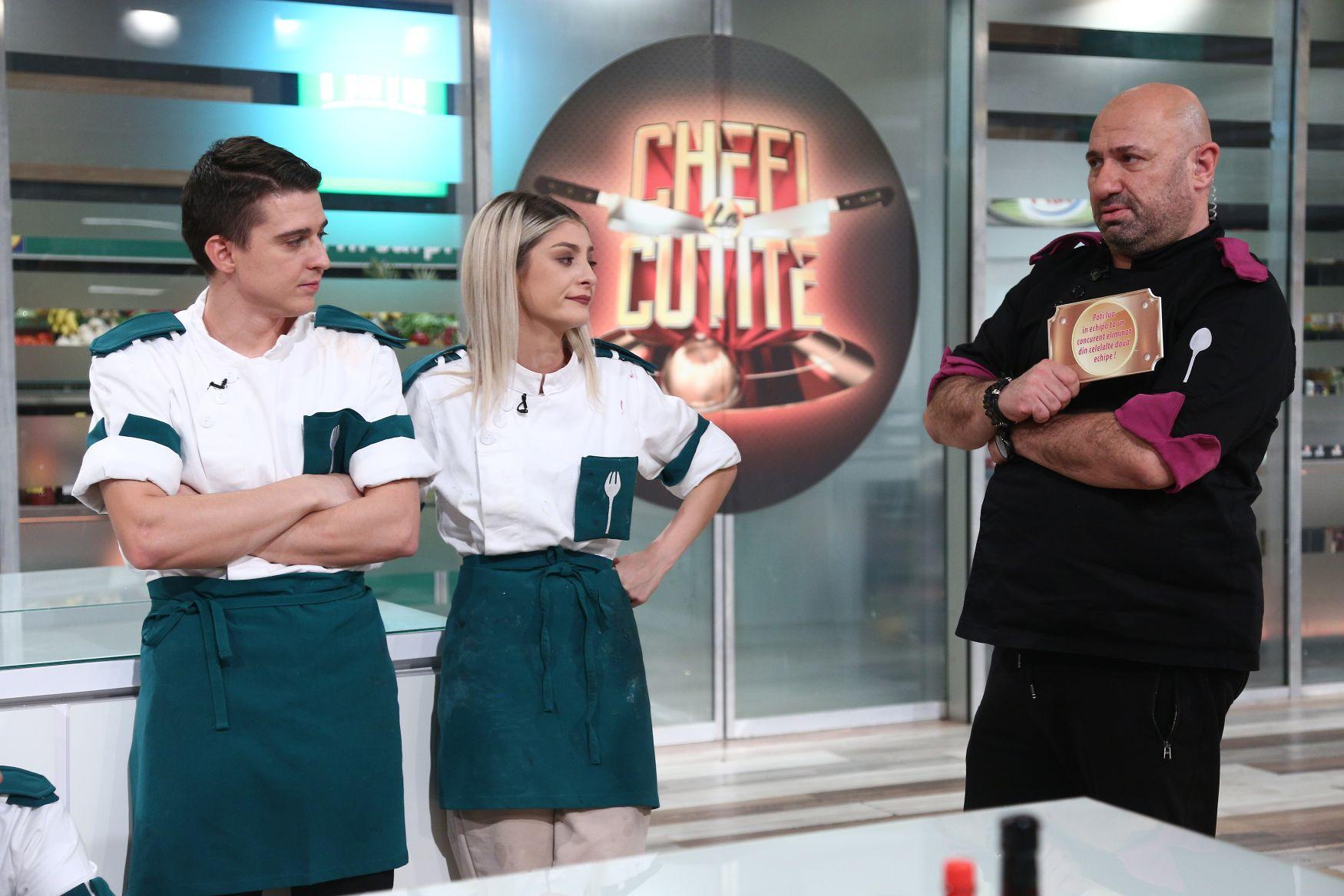 Paul Vasile, cuțitul de aur ales de chef Bontea, salvat de la eliminare de chef Scărlătescu. Show-ul a fost lider de audiență