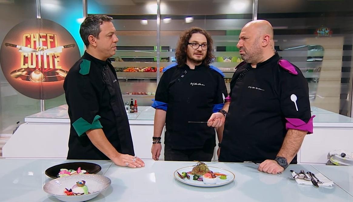 Chefi la cuțite, 31 mai 2021. Bontea și Scărlătescu s-au certat la degustare. Ce au descoperit artiștii din juriu în farfurii