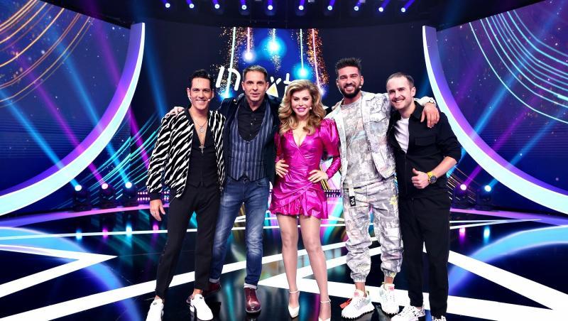 Loredana, Dorian popa, Ștefan Bănică, Dan Negru și Șerban Copoț, pe scnea Next Star