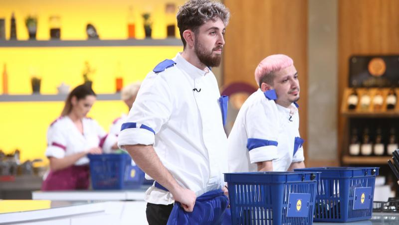 Ștefan Borleanu, purtând uniforma echipei albastre, la Chefi la cuțite