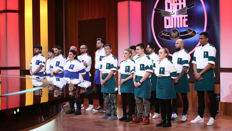 Echipa verde și echipa albastră în platoul de la Chefi la cuțite