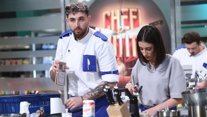 Ștefan Borleanu, gătind la chefi la cuțite, sezonul 9 alaturi de iubita sa