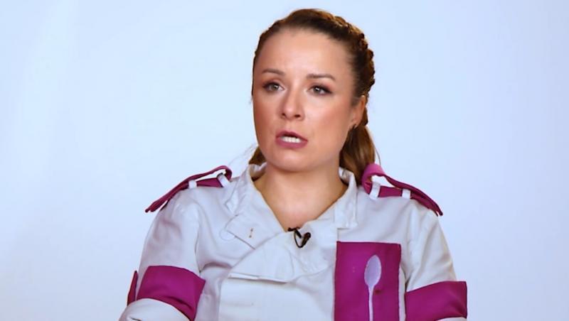 Valentina Ioniță dand interviu la chefi la cutite