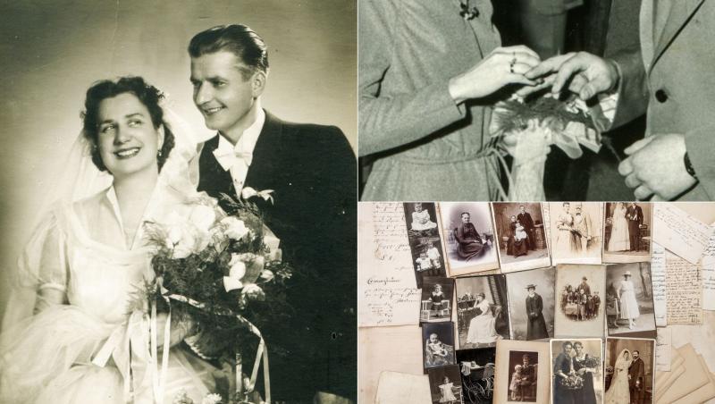 colaj de imagini cu tineri care se casatoresc