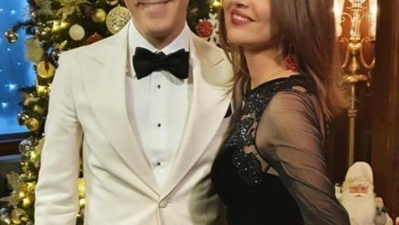 Ștefan Bănică, alături de Oana Sârbu, îmbrăcați elegant