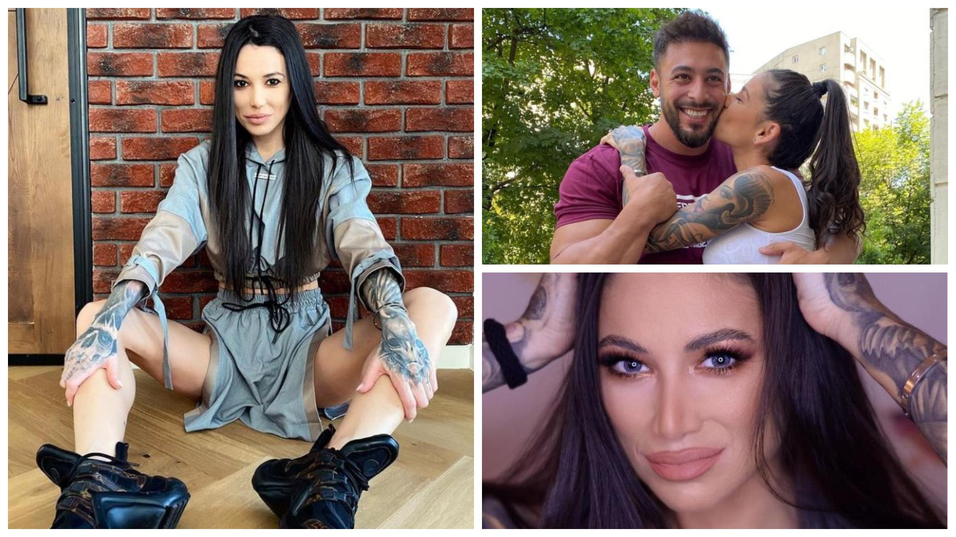 Roxana Vancea în trei ipostaze diferite, alături de Dragoș Paiu