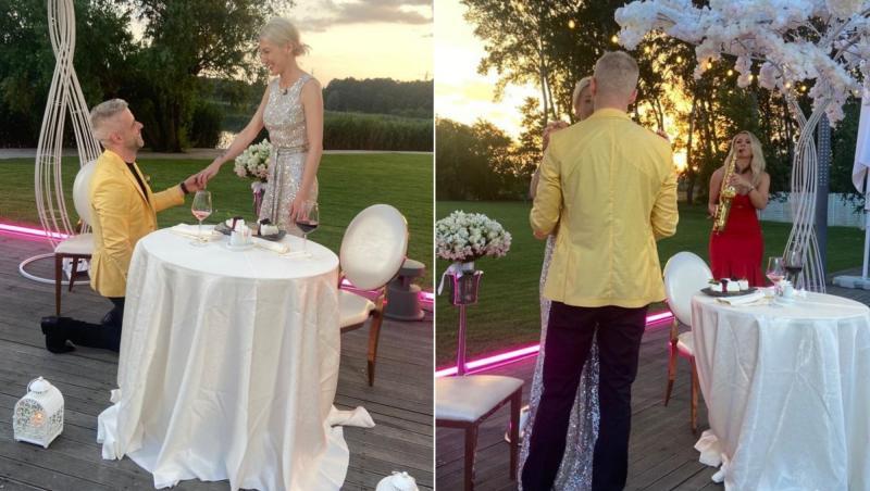colaj de imagini cu anamaria si bogdan de la cererea in casatorie