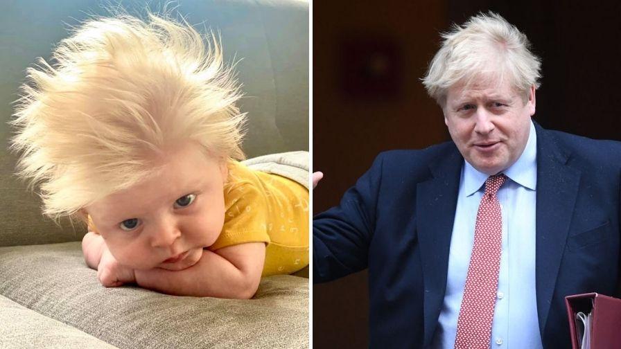 """Bebelușul care seamănă leit cu Boris Johnson, premierul Marii Britanii. Părinții: """"Toată lumea e înnebunită după felul cum arată"""""""