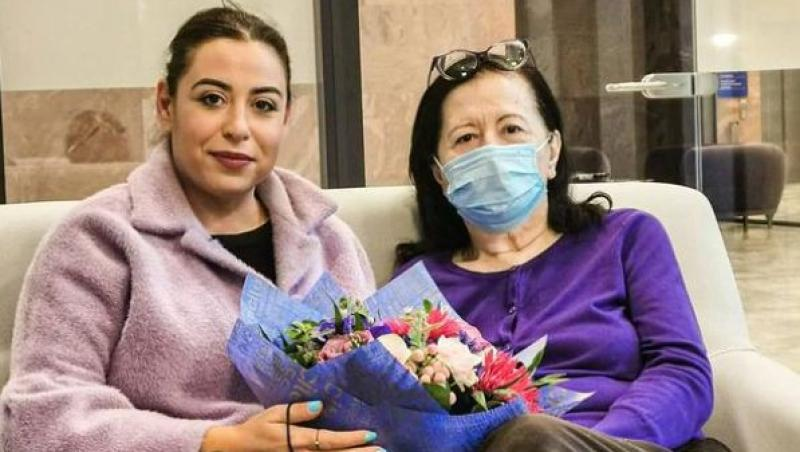 Oana Roman, cu mama la centrul de recuperare