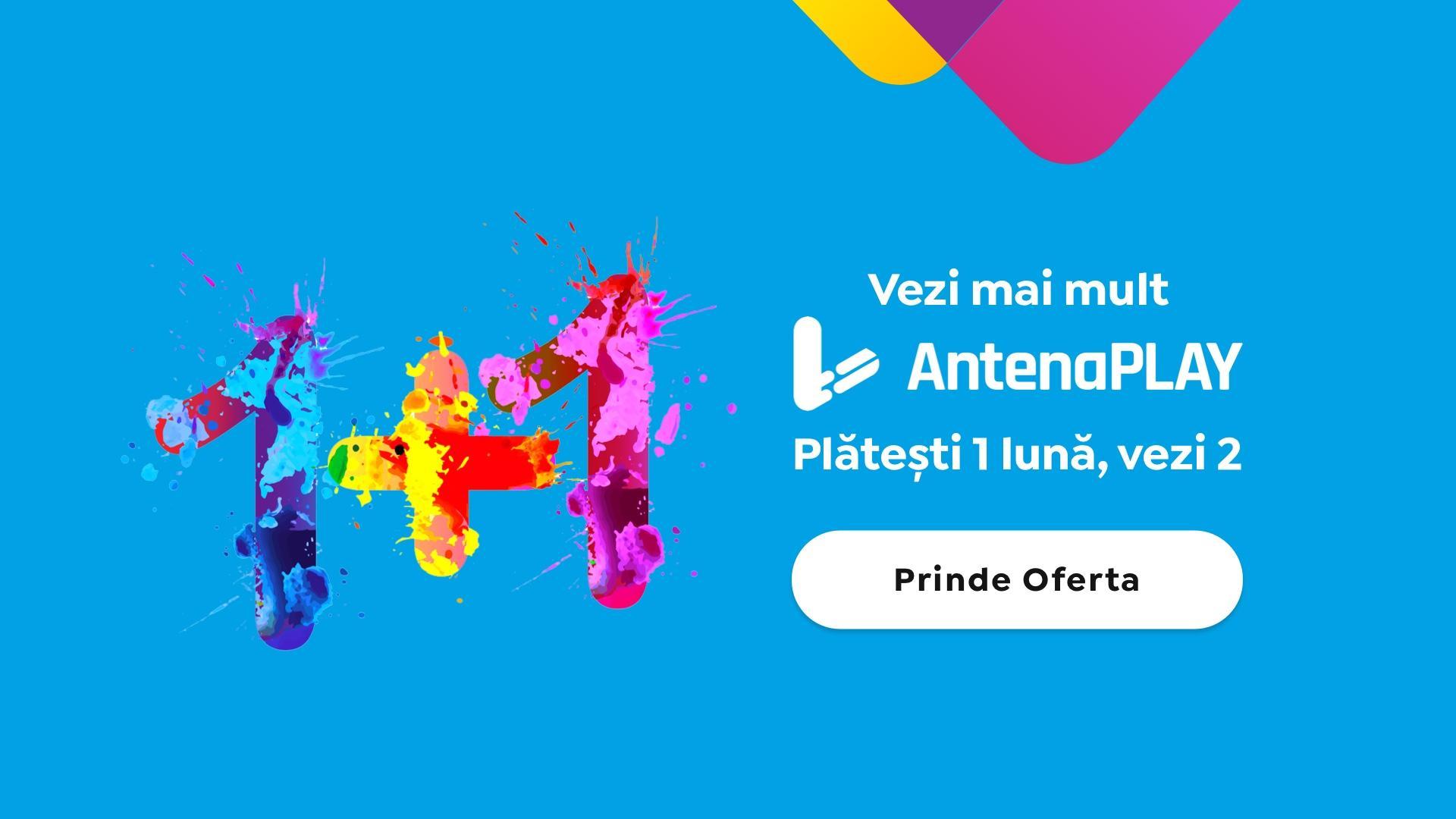 Participă la promoția 1+1 AntenaPLAY și vezi emisiunile și serialele tale favorite! Ce trebuie să faci pentru a prinde oferta