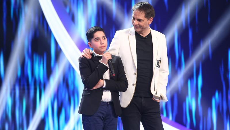 David Dincă a interpretat o piesă grea în finala Next Star 2021. Andreea Bălan a dansat în spatele său
