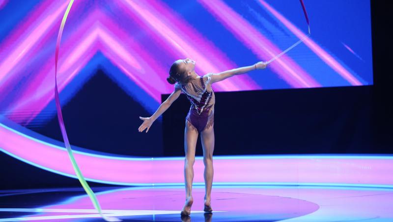 Alexia Ghica, micuța gimnastă de la Next Star