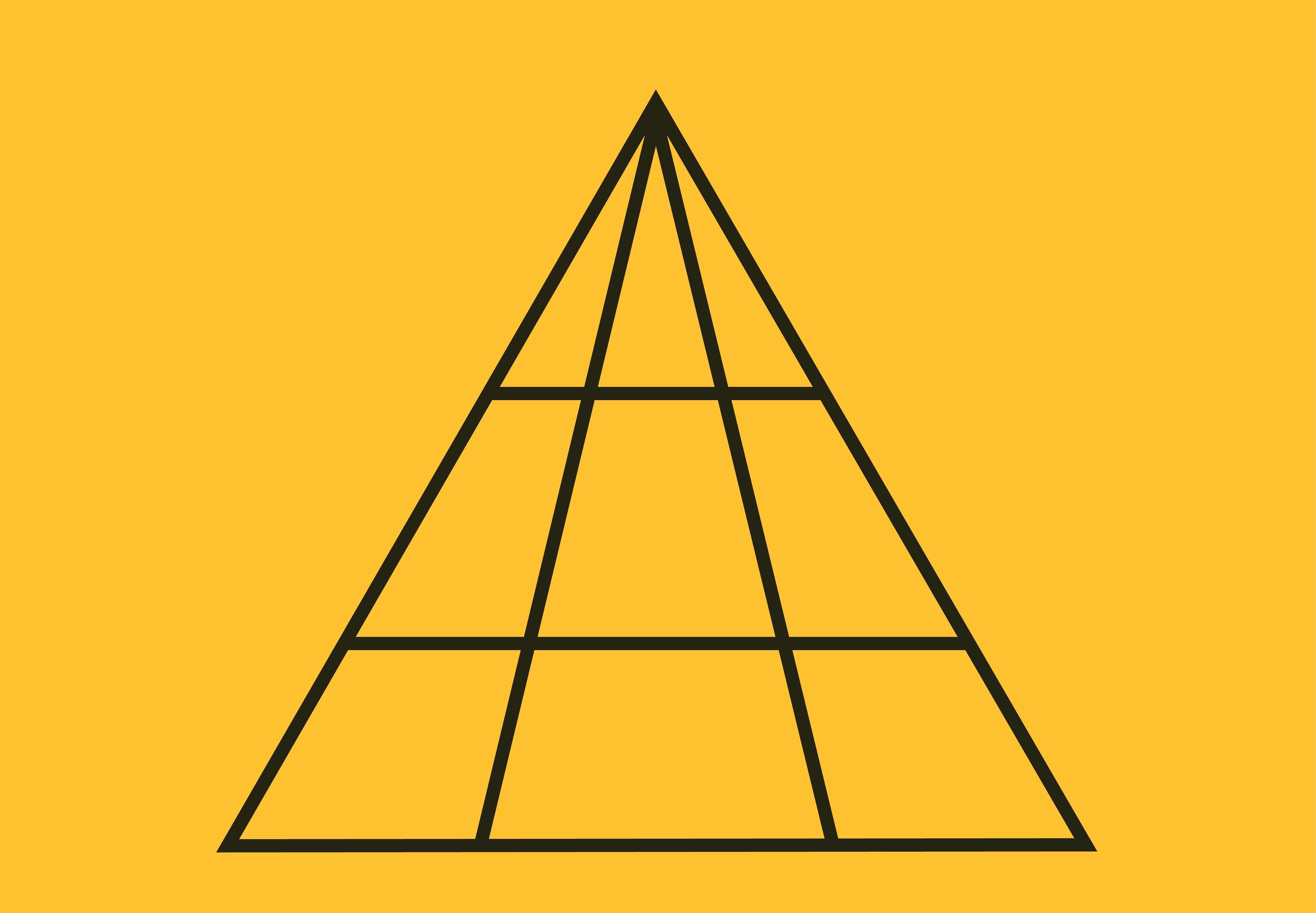 Câte triunghiuri sunt în această imagine, de fapt. Răspunsul corect te va surprinde