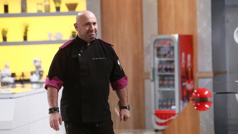 Cătălin Scărlătescu, în platoul emisiunii Chefi la cuțite, seoznul 9