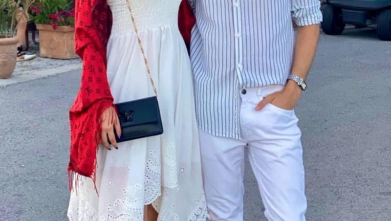 Radu Ștefan Bănică și Violeta, îmbrăcați elegant