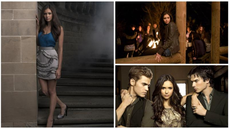 Nina Dobrev pe platourile The Vampire Diaries, alături de colegii săi
