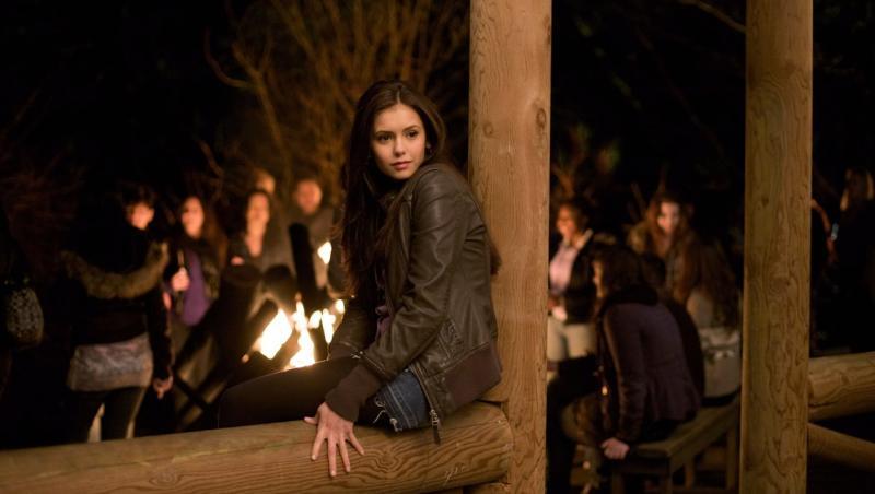 Nina Dobrev pe platourile The Vampire Diaries