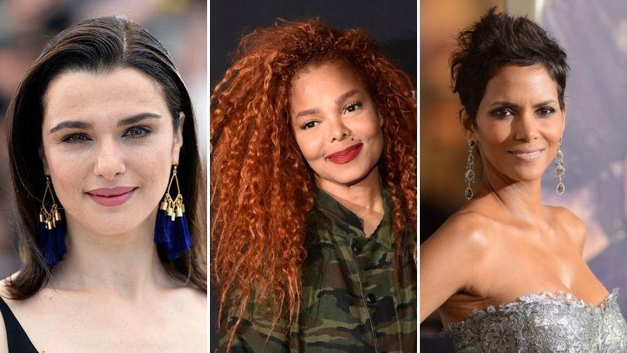 Colaj foto cu celebrități care au născut după 45 de ani - Halle Berry, Janet Jackson, Rachel Weisz