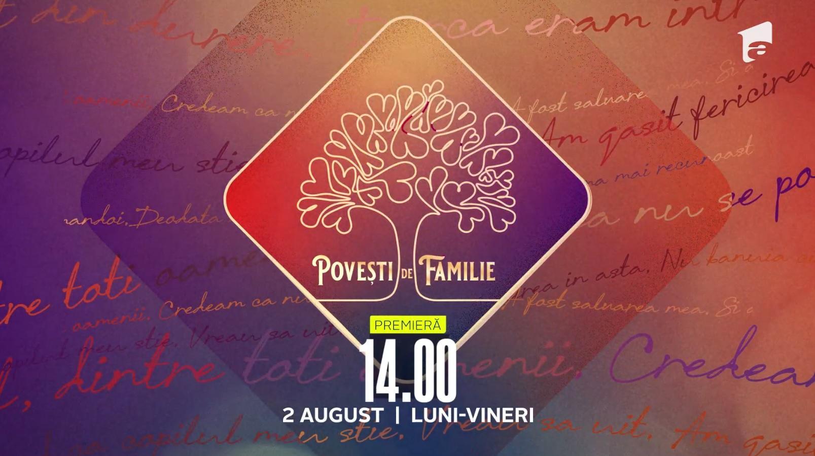"""Serialul """"Povești de familie"""" va avea premiera luni, 2 august, la Antena 1"""