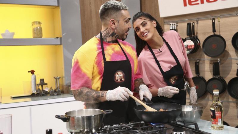 Antonia și Alex Velea au gătit împreună la Chefi la cuțite
