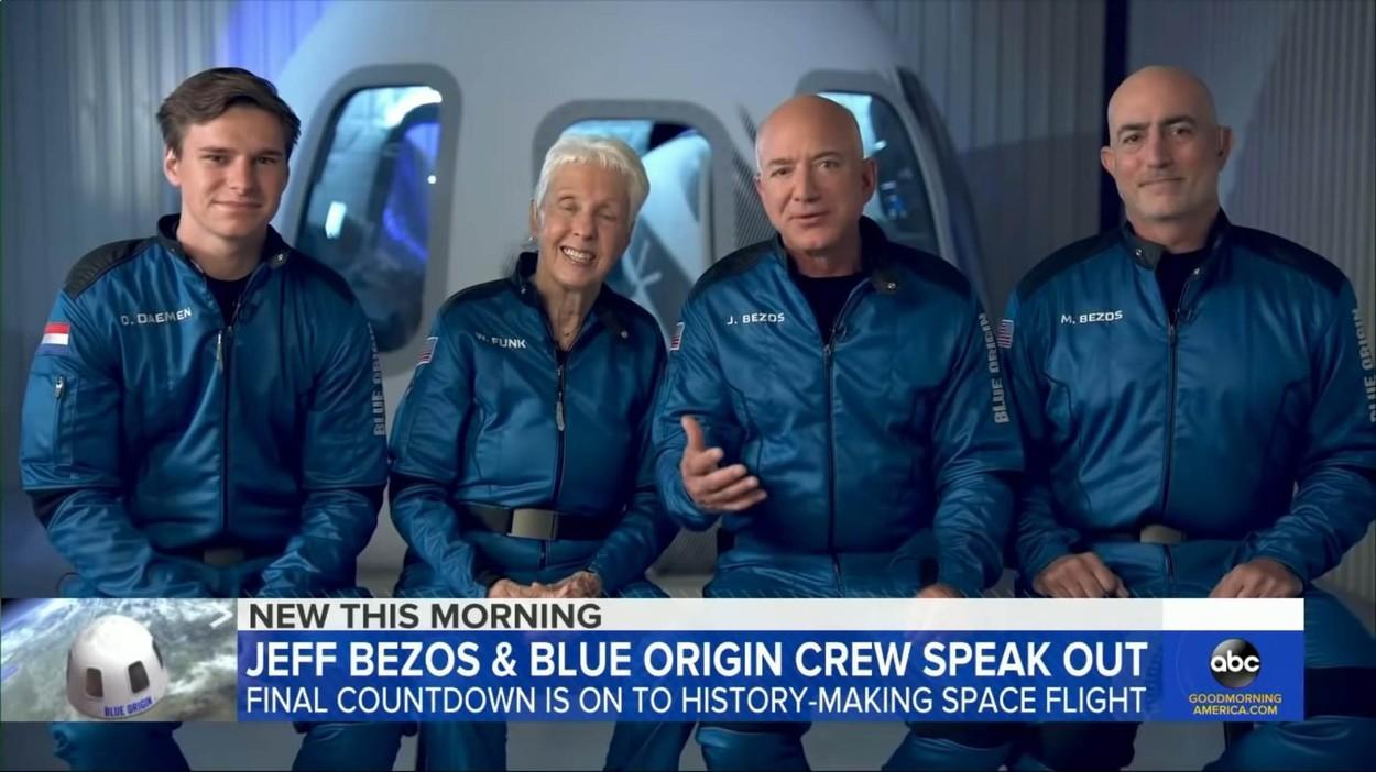 Wally Funk, cea mai în vârstă persoană ajunsă în Spațiu. Are 82 de ani. A așteptat 60 de ani să se întâmple acest lucru