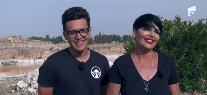 Patrizia Paglieri și Francesco, fiul ei