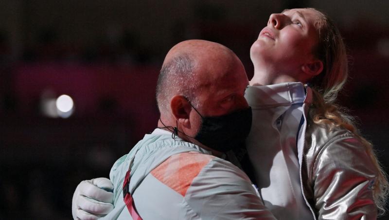 Maria Belen Perez Maurice, o scrimeră argentiniană care a participat la Jocurile Olimpice 2020 a fost cerută de soție de antrenorul ei.