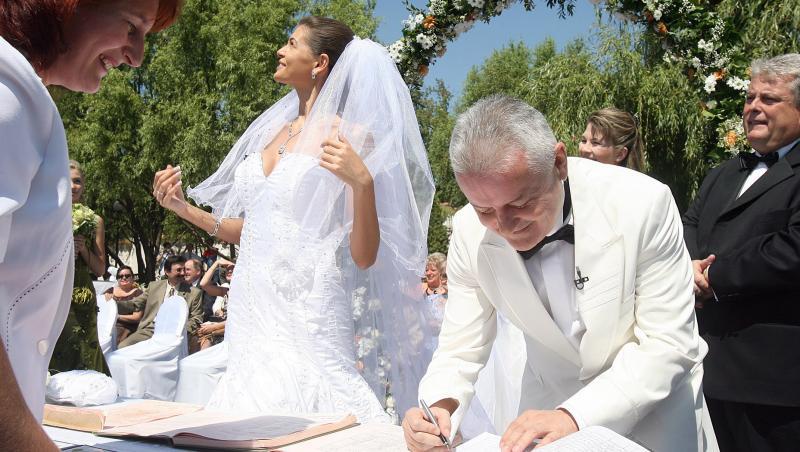 Monica Gabor și Irinel Columbeanu, la nuntă