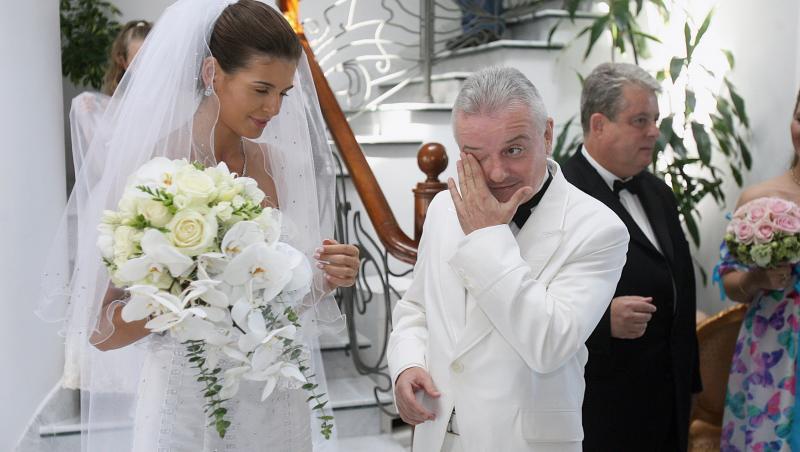 Monica Gabor și Irinel Columbeanu, la petrecerea de nuntă