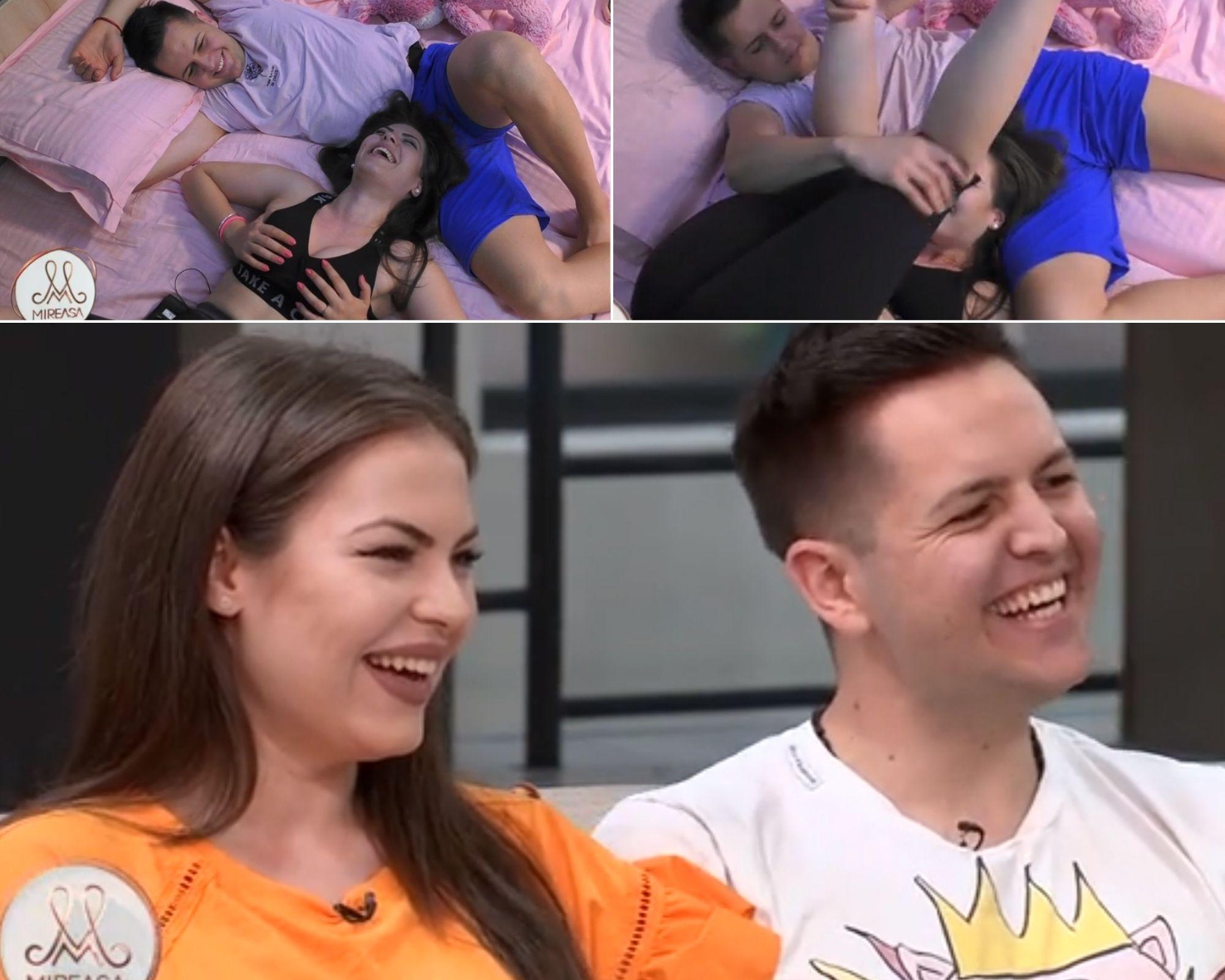 """Mireasa 2021, sezon 3. Andreea și Marian, atingeri îndrăznețe pentru """"destresarea organismului"""""""