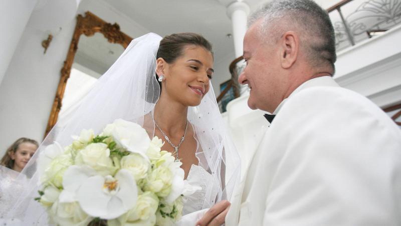 Monica Gabor și Irinel Columbeanu la nuntă