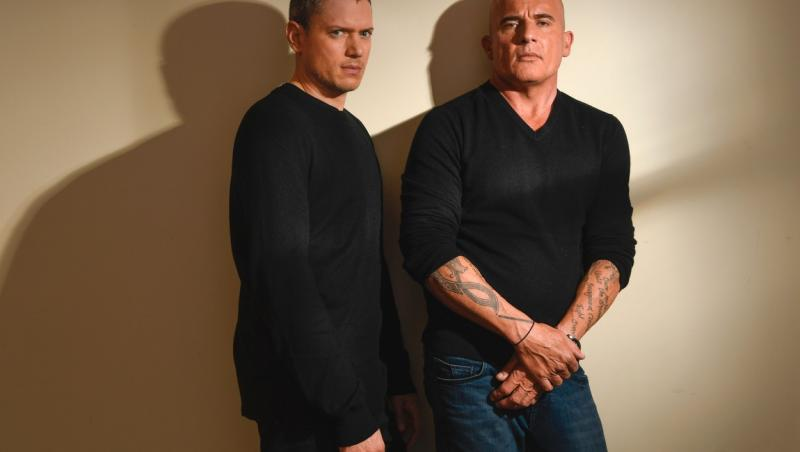 wentworth miller si dominic purcell imbracati in negru