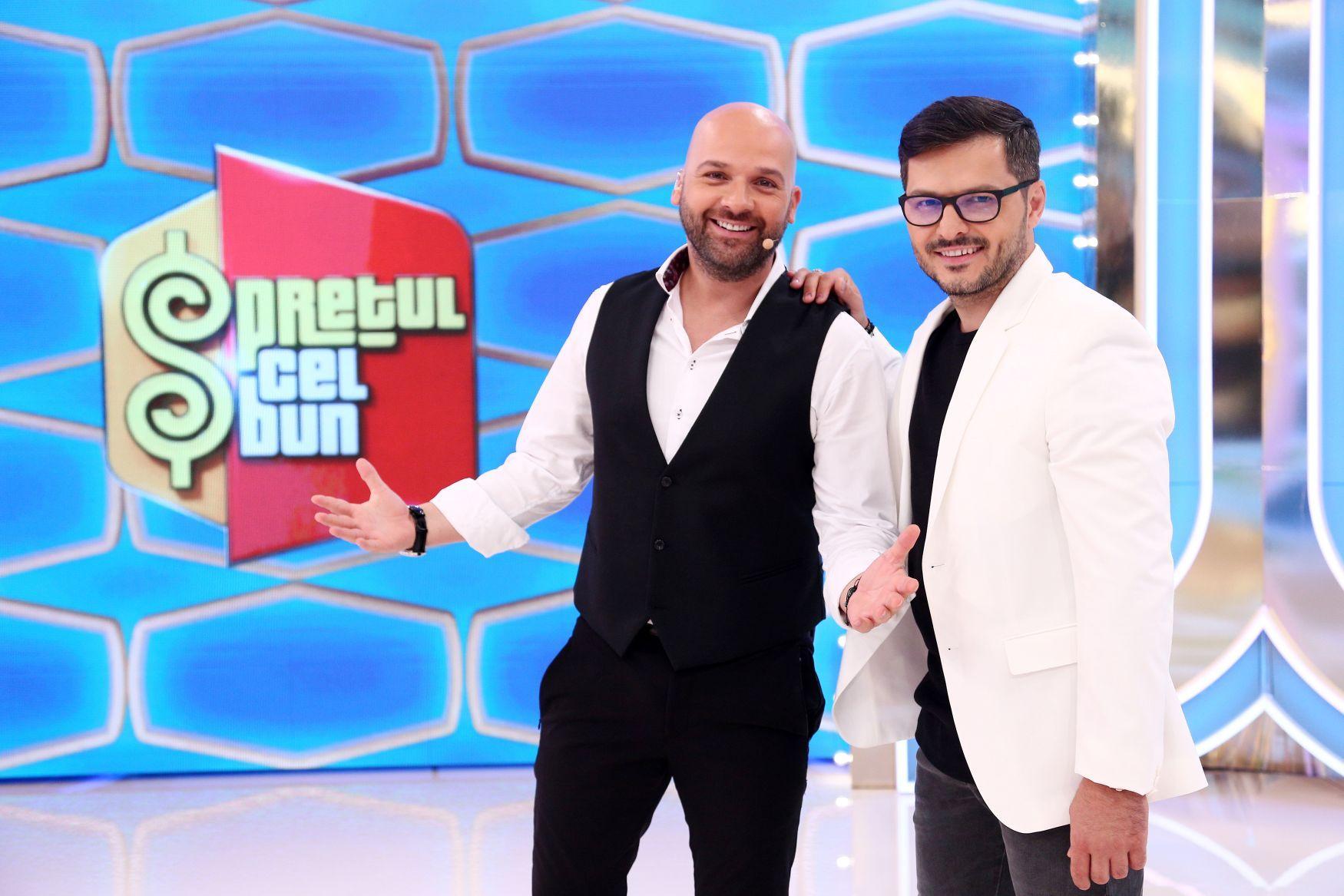 Liviu Vârciu și Andrei Ștefănescu au început filmările pentru quiz show-ul Prețul cel bun