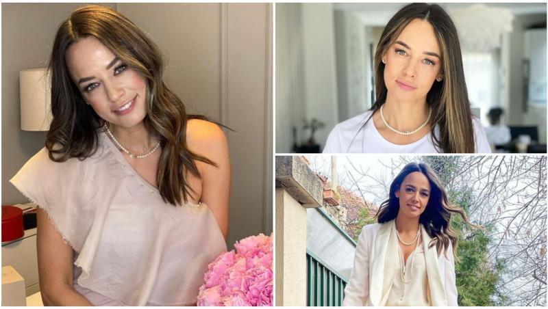 Andreea Raicu în trei ipostaze diferite