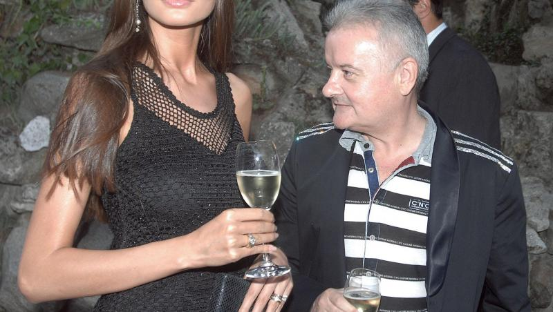Irinel Columbeanu și Monica Gabor în haine negre