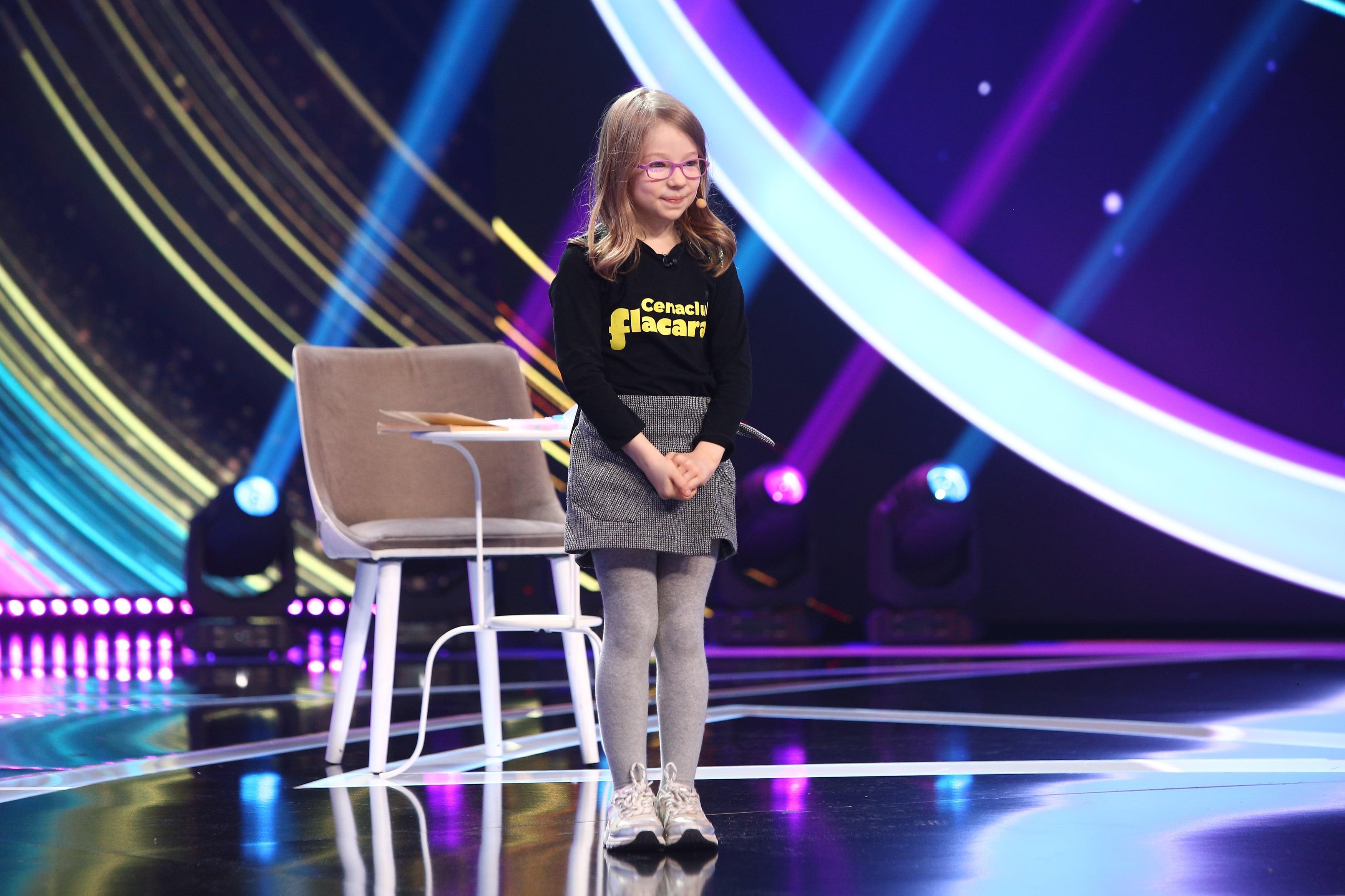 Next Star, 10 iulie 2021. Adriana Maria Păunescu, nepoata lui Adrian Păunescu, și-a cântat poezia compusă de ea la doar șase ani