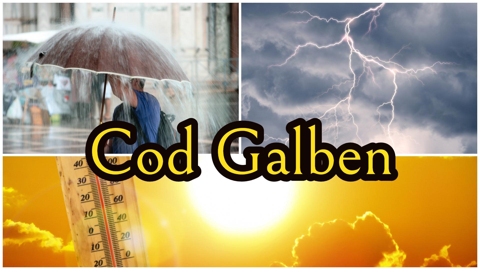 Cod galben de caniculă și vijelii. Ce zone vor fi afectate de ploi torențiale și unde va fi cel mai cald