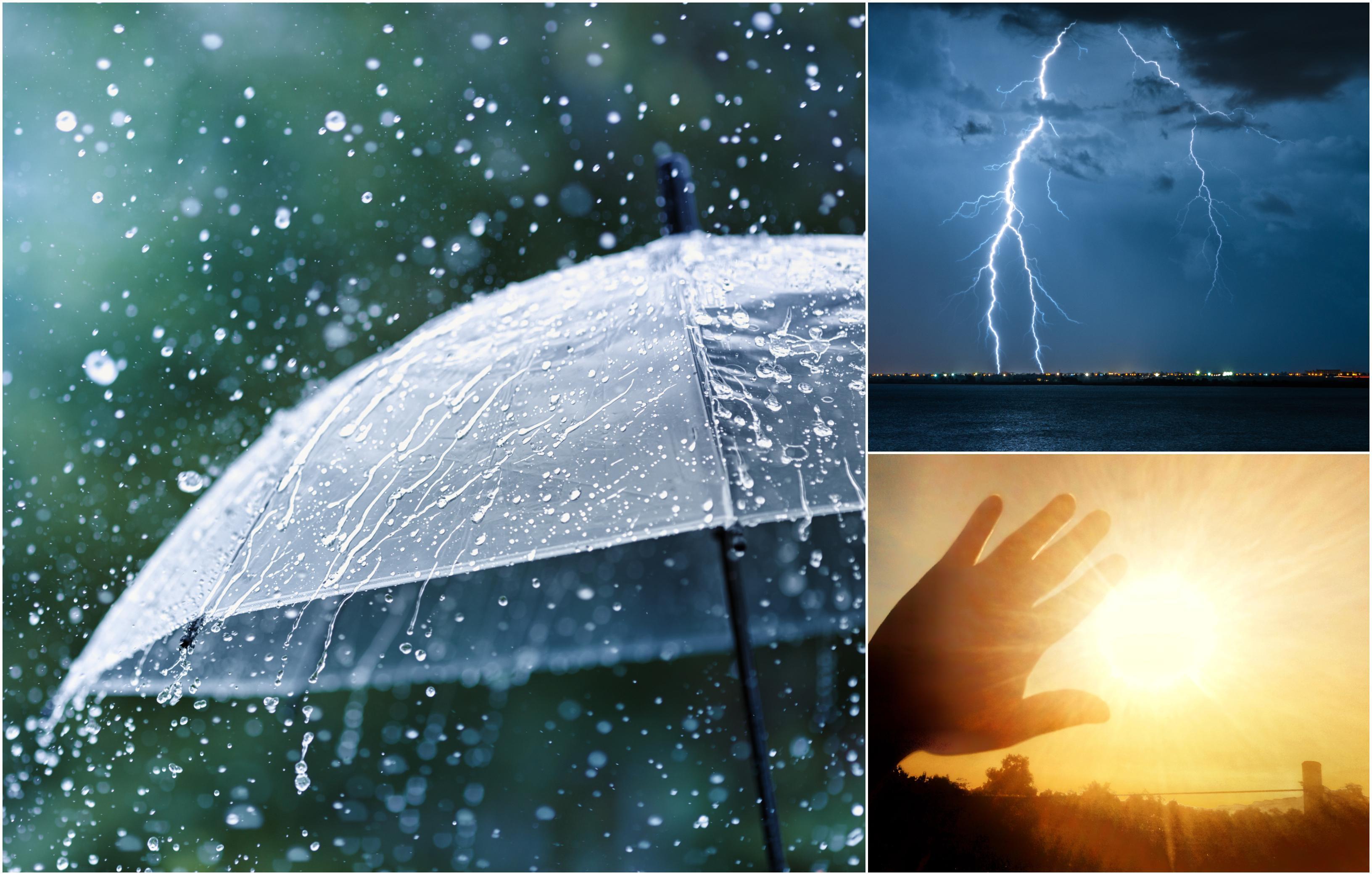 Alertă ANM! Cod Galben de furtuni și caniculă. Meteorologii au anunțat vijelii, grindină, descărcări electrice și temperaturi mari