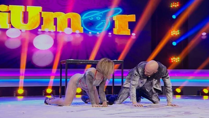 Antonina și Mihai Bendeac pe scena iUmor în făină