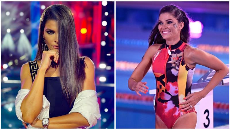 Alina Pușcaș în două ipostaze diferite