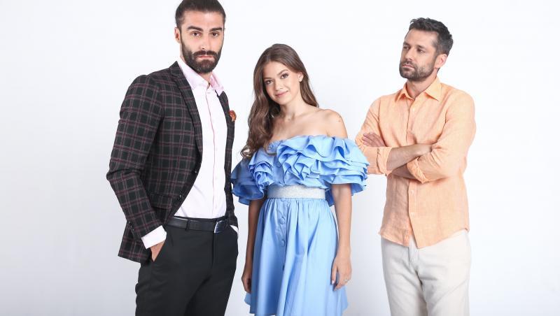 Alecsandru Dunaev, Daniel Nuță și Mara Oprea, în serialul Adela