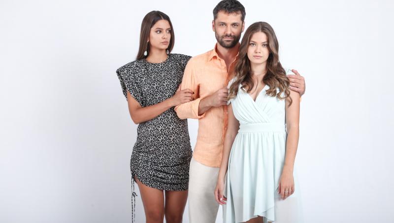 Alecsandru Dunaev, Oana Moșneagu și Mara Oprea, în serialul Adela
