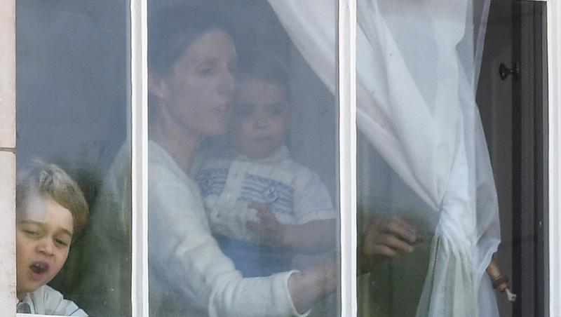 Maria Borrallo, dădaca celor trei copii ai Ducilor de Cambridge, la geam