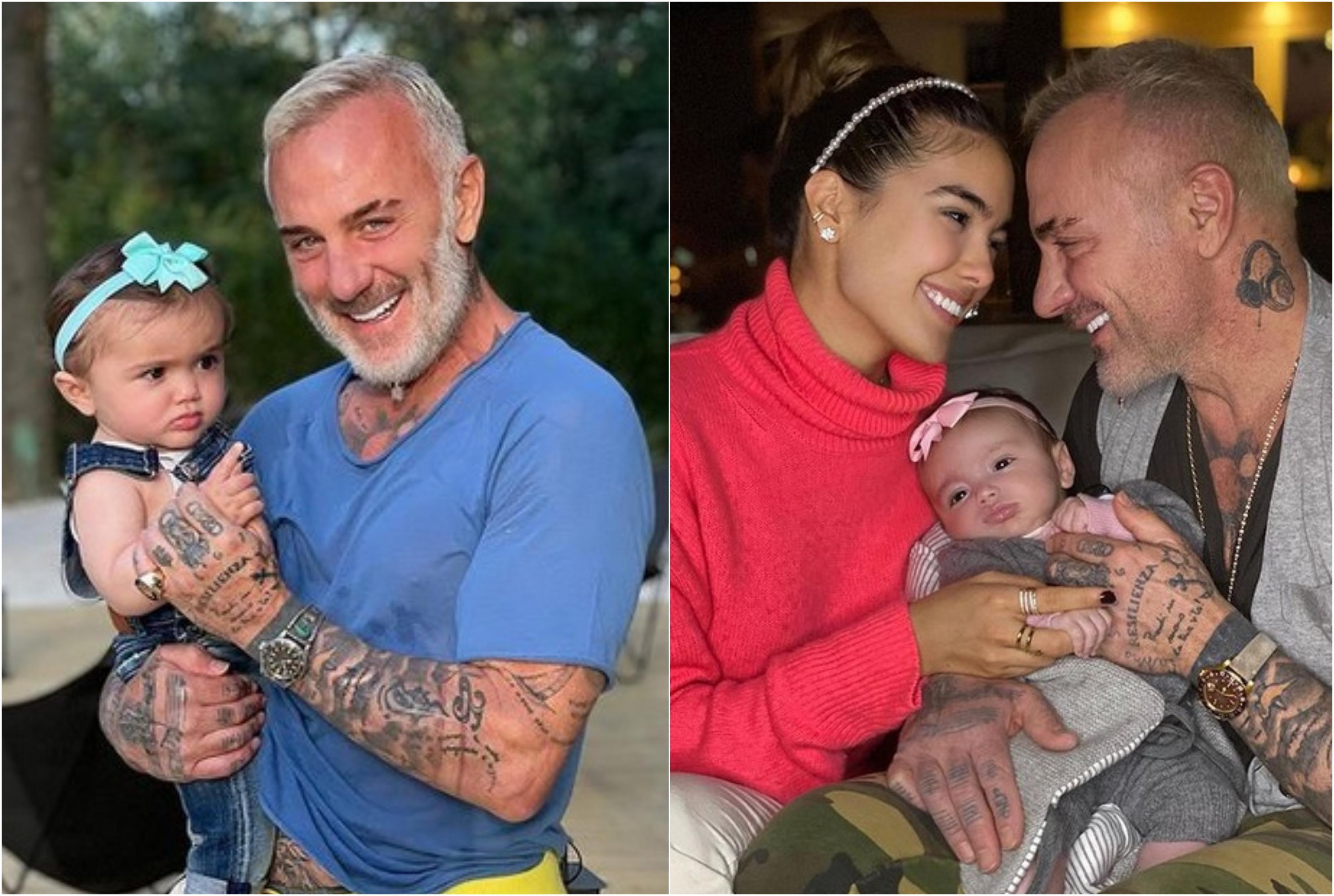 Gianluca Vacchi, tată model cu fetița sa. Cum se joacă cu micuța Jerusalema, în mare, îmbrăcată într-un costumaș de baie