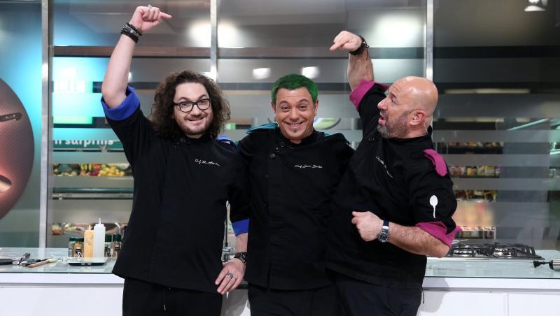 Florin Dumitrescu, Sorin Bontea și Cătălin Scărlătescu, la Chefi la cuțite