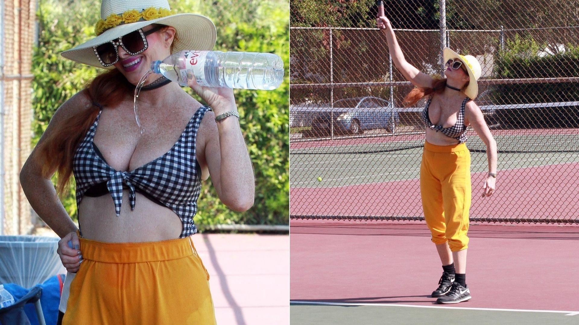 Phoebe Price a făcut show de față cu paparazzi. Actrița și-a turnat apă pe piept și a renunțat la pantaloni